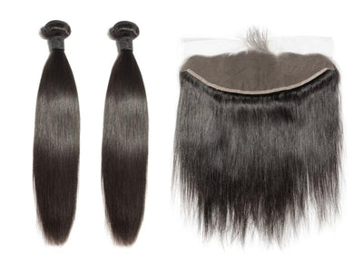 2 Straight Bundles & Frontal ( Industry Standard Collection)