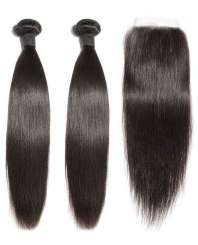 2 Straight Bundles & Closure ( Industry Standard Collection)