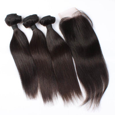 Straight Hair 3 Bundles & Closure ( Industry Standard Collection )