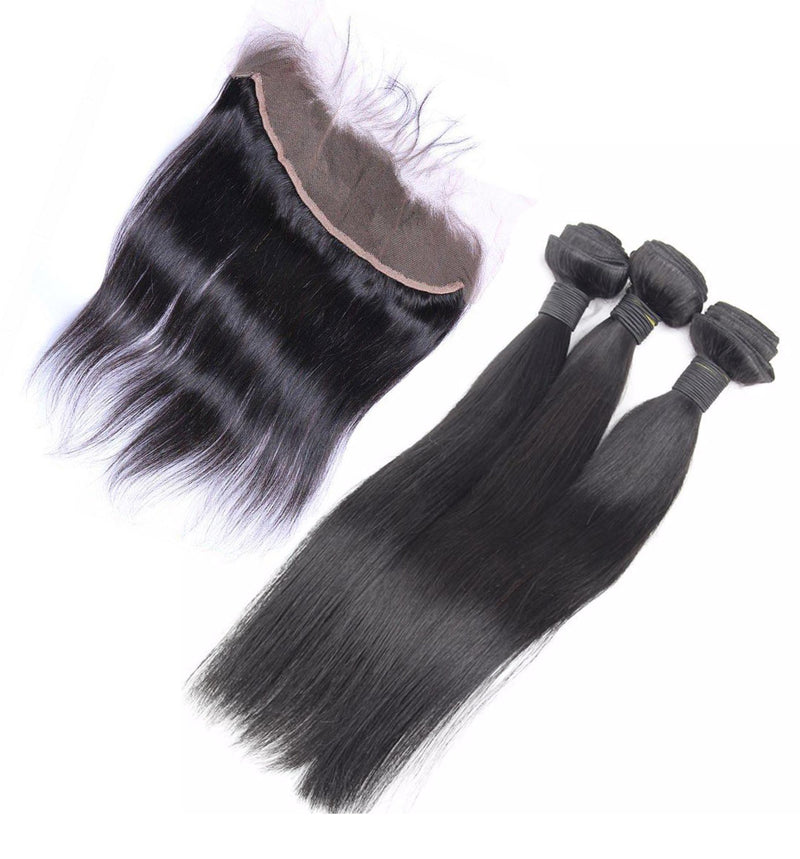 Straight Hair 3 Bundles & Frontal ( Industry Standard Collection )