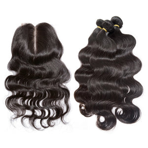Bodywave Hair 3 Bundles & Closure ( Supreme Goddess Collection )