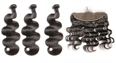 3 Bodywave Bundles & Frontal ( Industry Standard Collection)
