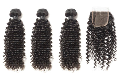 3 Curly Bundles & Closure ( Industry Standard Collection)
