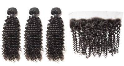 3 Curly Bundles & Frontal ( Industry Standard Collection)