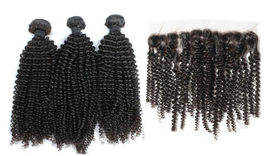 3 Kinky Curly Bundles & Frontal ( Industry Standard Collection)