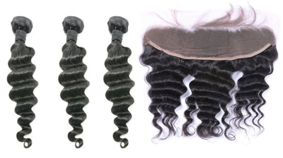 3 Loose Deepwave Bundles & Frontal ( Industry Standard Collection)
