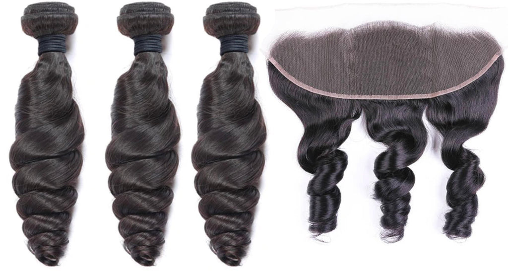 3 Loosewave Bundles & Frontal ( Industry Standard Collection)