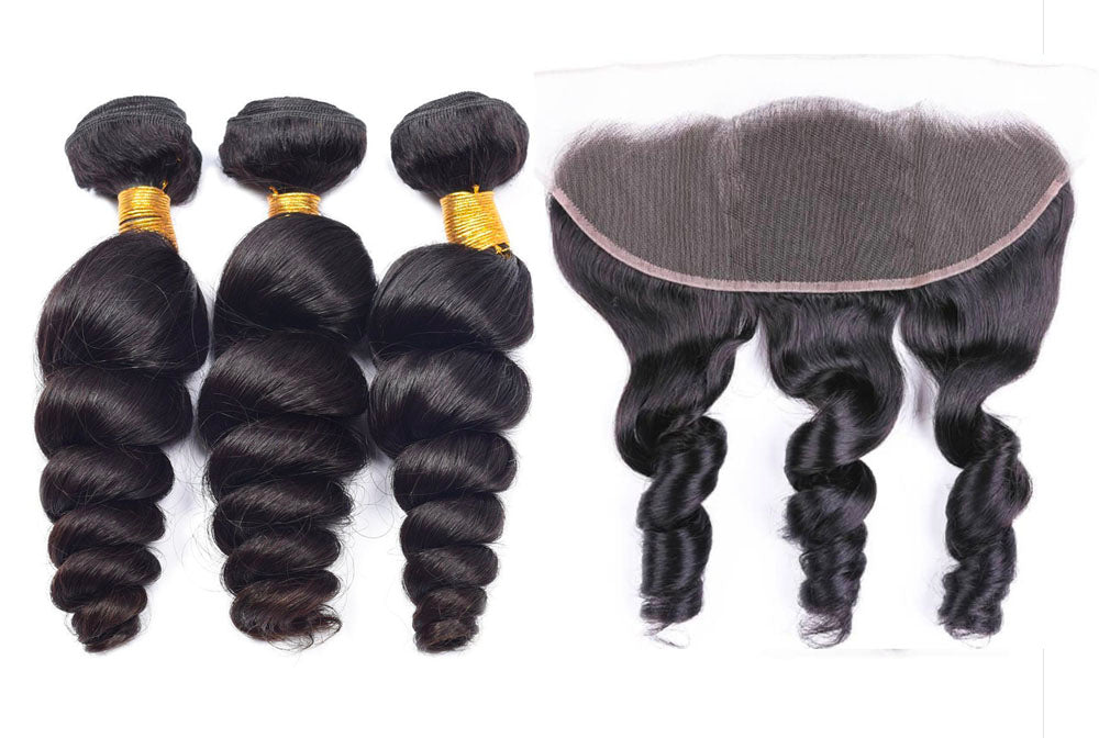 3 Loosewave Bundles & Frontal ( I Am A Queen Collection )