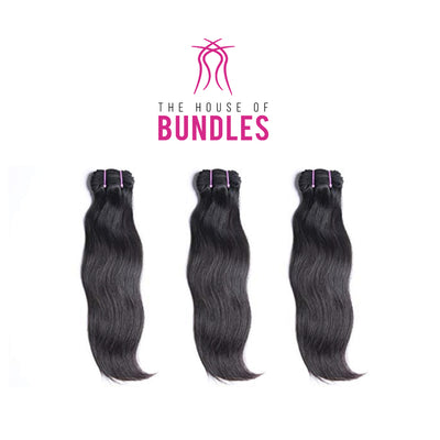 3 Raw Straight Bundles