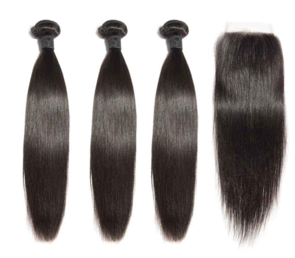 3 Straight Bundles & Closure ( Industry Standard Collection)