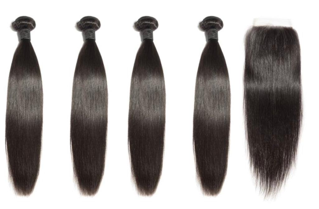 4 Straight Bundles & Closure ( Industry Standard Collection)