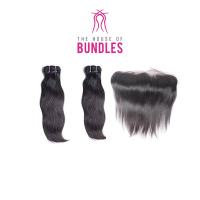 2 Raw Straight Bundles & Frontal