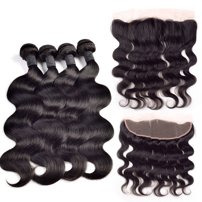 4 Bundles & Frontal ( Any Texture)