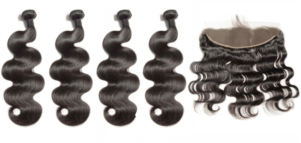 4 Bodywave Bundles & Frontal ( Industry Standard Collection)