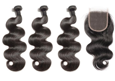 3 Bodywave Bundles & Closure ( Industry Standard Collection)