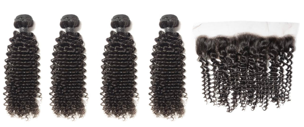4 Curly Bundles & Frontal ( Industry Standard Collection)