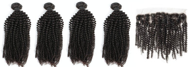 4 Kinky Curly Bundles & Frontal ( Industry Standard Collection)