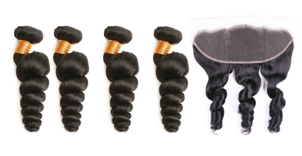 4 Loosewave Bundles & Frontal ( I Am A Queen Collection)