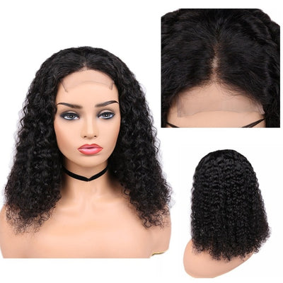 Curly Glue-Less Closure Wig Unit