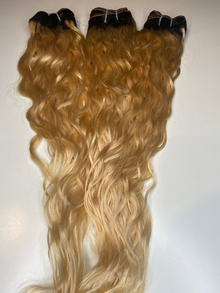 3 Natural wave Bundles Inches 30-32-32 Custom Colored