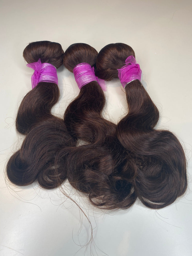 3 Bodywave Bundles Inches 12-14-14 Color #4
