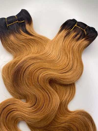 2 Bodywave Bundles 16 & 18 Custom Colored