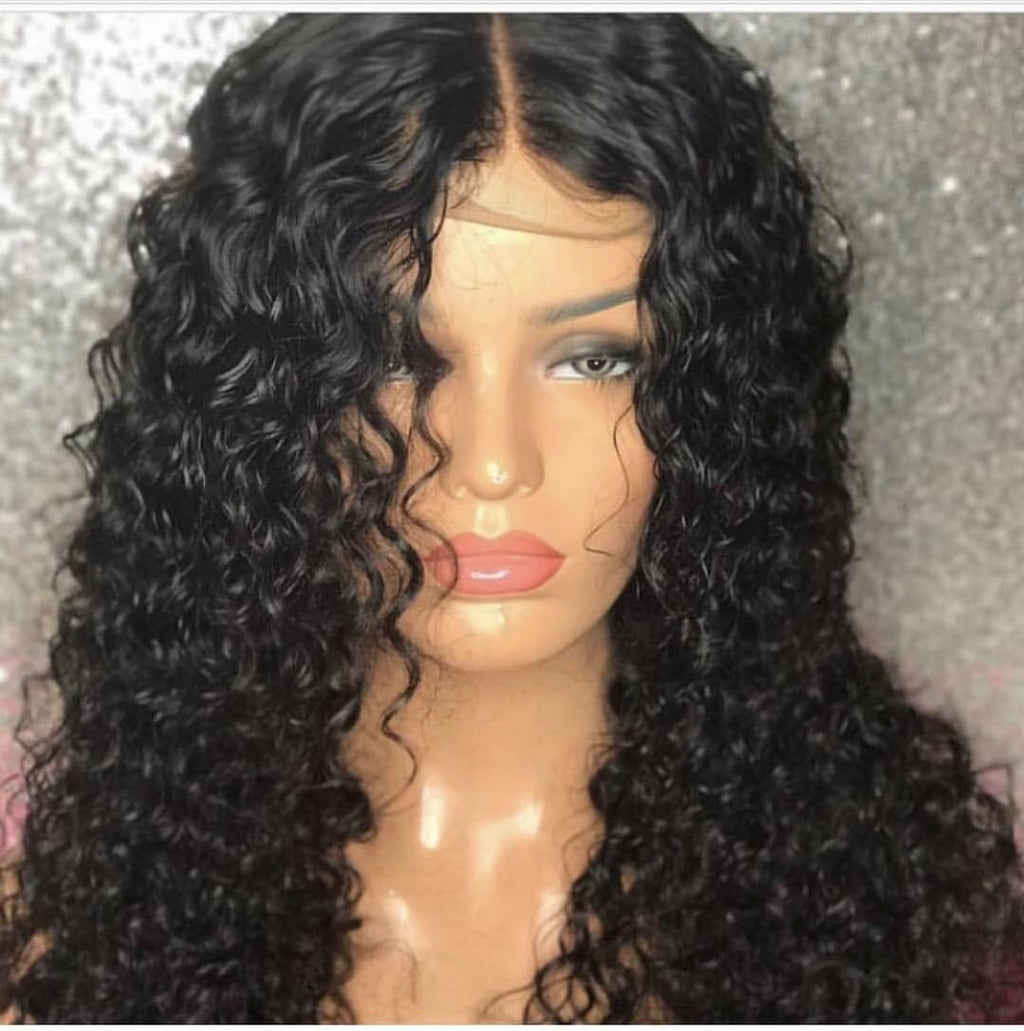 3 Bundle Deepwave Hair Custom Wig Closure Unit