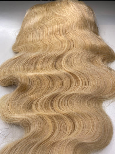Blonde Bodywave 13x4 Transparent Lace Frontal 22 Inch Unit 180 Density