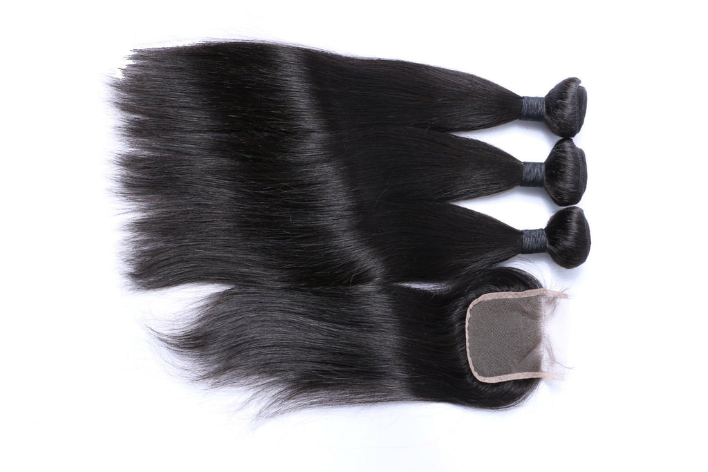 Straight Hair 3 Bundles & Closure ( Supreme Goddess Collection )