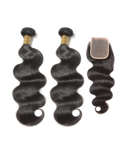 2 Bodywave Bundles  & Closure ( I Am A Queen Collection)