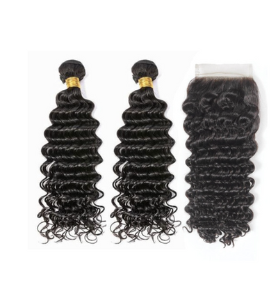 2 Deepwave Bundles  & Closure ( I Am A Queen Collection)