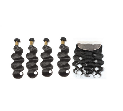 4 Bodywave Bundles & Frontal ( I Am A Queen Collection)