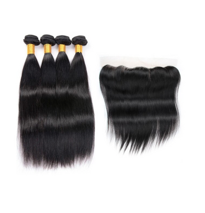 4 Straight Bundles & Frontal ( I Am A Queen Collection)