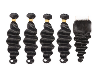 4 Loose Deepwave Bundles & Closure ( I Am A Queen Collection)