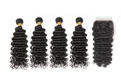 4 Deepwave Bundles & Closure ( I Am A Queen Collection)