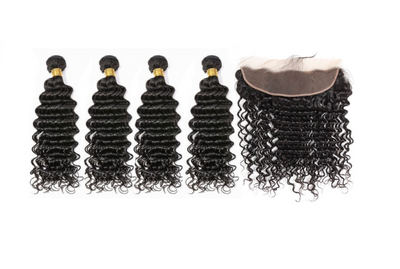 4 Deepwave Bundles & Frontal ( I Am A Queen Collection)