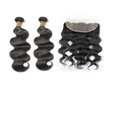 2 Bodywave Bundles & Frontal ( I Am A Queen)