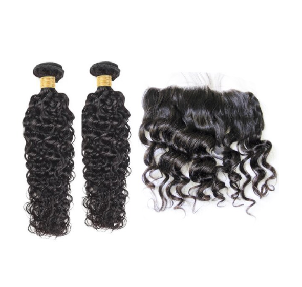 2 Natural Wave Bundles & Frontal ( I Am A Queen)