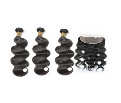 3 Bodywave Bundles & Frontal ( I Am A Queen Collection )