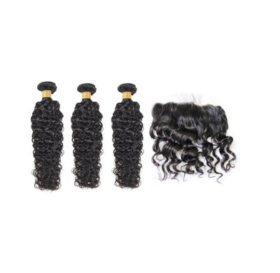 3 Natural Wave Bundles & Frontal ( I Am A Queen Collection )