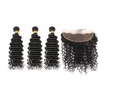 3 Deepwave Bundles & Frontal ( I Am A Queen Collection )