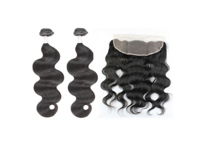 2 Bodywave Bundles & Frontal ( Goddess Collection)