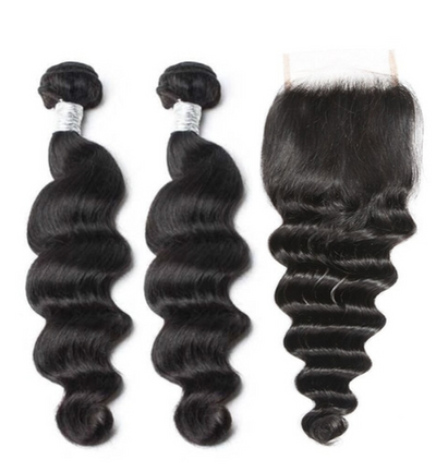 2 Loose Deepwave Bundles & Closure ( Goddess Collection)