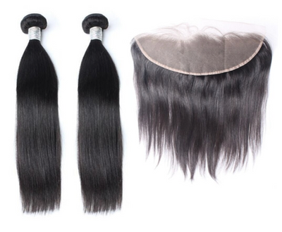 2 Straight Bundles & Frontal ( Goddess Collection)