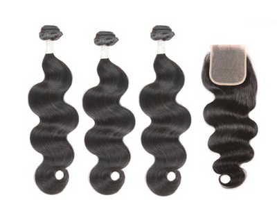 3 Bodywave Bundles & Closure ( Goddess Collection)