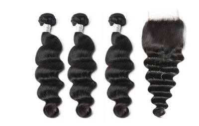 3 Loose Deepwave Bundles & Closure ( Goddess Collection)