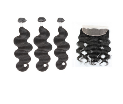 3 Bodywave Bundles & Frontal ( Goddess Collection )