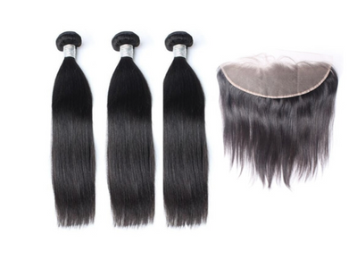 3 Straight Bundles & Frontal ( Goddess Collection )