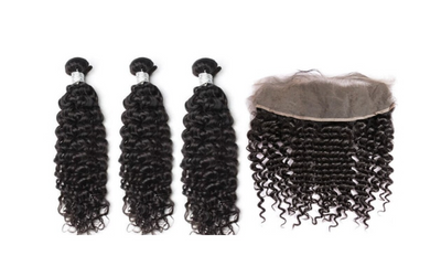 3 Curly Bundles & Frontal ( Goddess Collection )