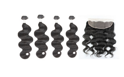 4 Bodywave Bundles & Frontal ( Goddess Collection)